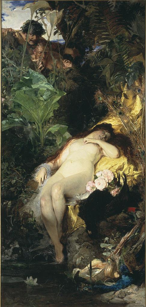 """""""Jaktnymf och fauner"""", 1875"""
