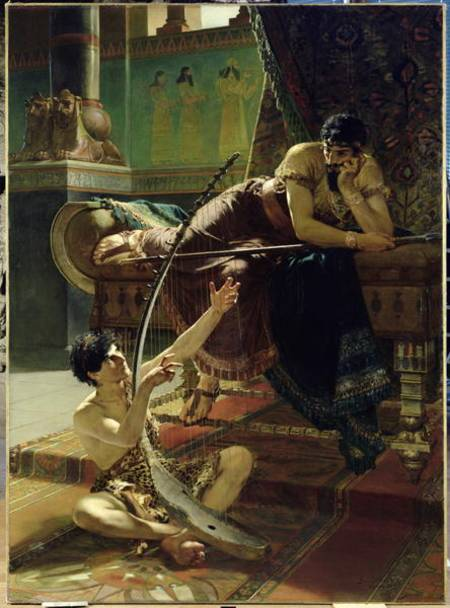"""""""David och Saul"""", 1885"""