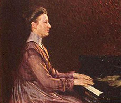 Alice Tegnér, porträtterad av Natanael Beskow