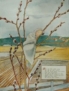 """""""Sov du lilla videung"""", illustration av Elsa Beskow"""