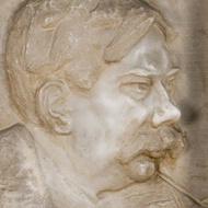 Tor Aulin, marmorrelief från 1935 av Bror Chronander, i Göteborgs konserthus